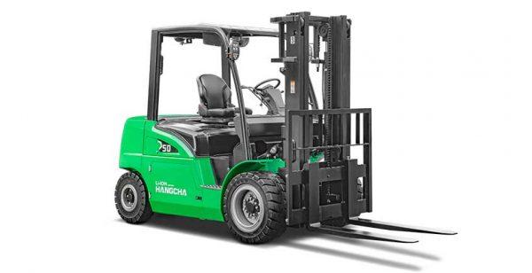 cho thuê xe nâng điện XC series electric forklift with Li-Ion power 4.0~5.0t